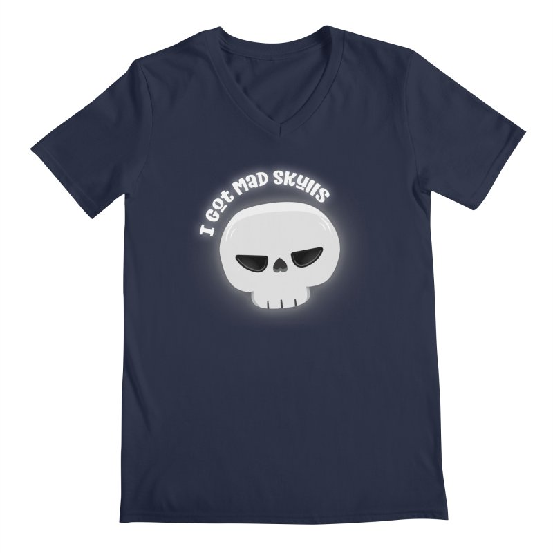 I Got Mad Skulls Men's Regular V-Neck by FunUsual Suspects T-shirt Shop