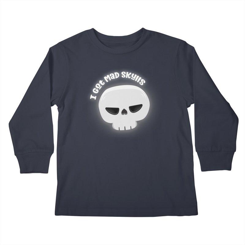 I Got Mad Skulls Kids Longsleeve T-Shirt by FunUsual Suspects T-shirt Shop
