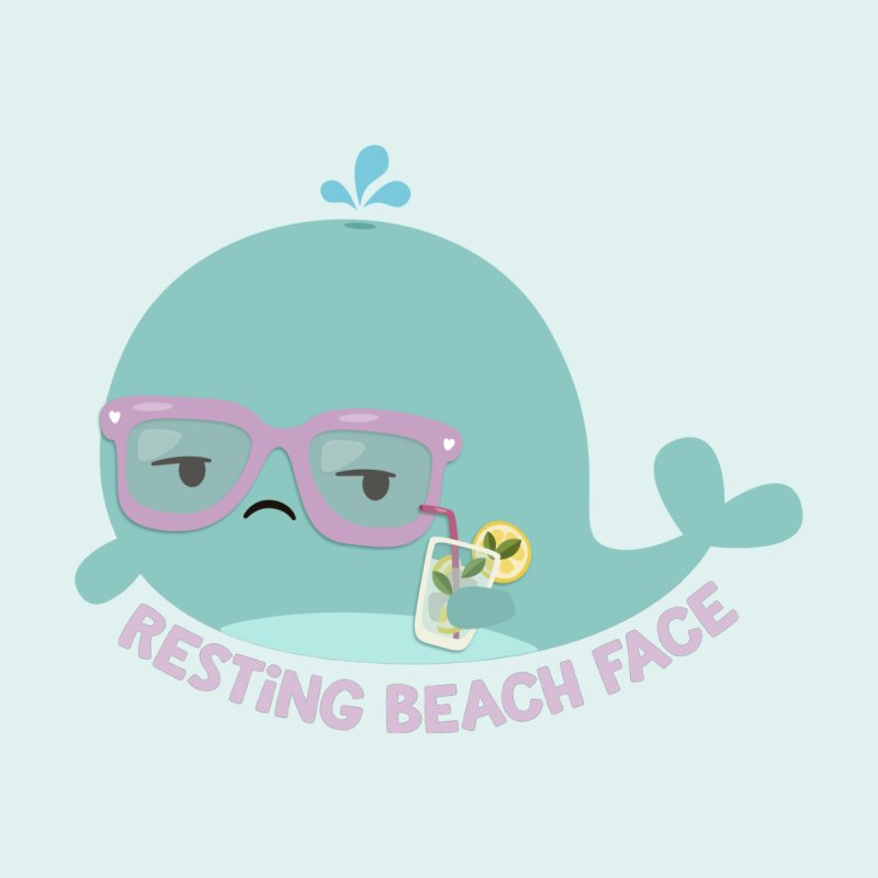 Resting Beach Face Women's V-Neck by FunUsual Suspects T-shirt Shop