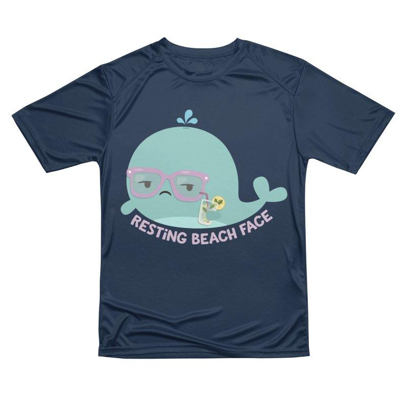 Resting Beach Face Women's Performance Unisex T-Shirt by FunUsual Suspects T-shirt Shop