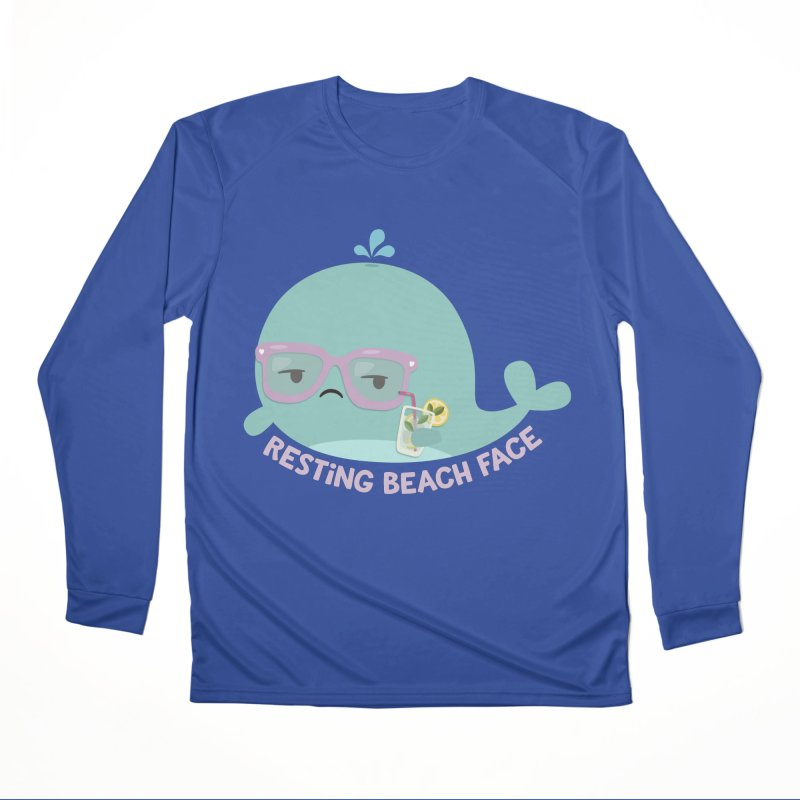 Resting Beach Face Men's Performance Longsleeve T-Shirt by FunUsual Suspects T-shirt Shop