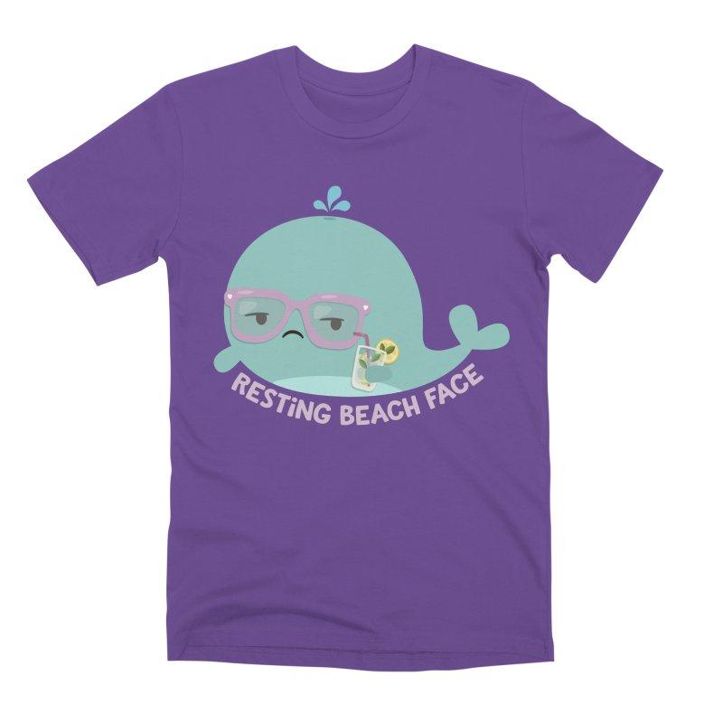 Resting Beach Face Men's Premium T-Shirt by FunUsual Suspects T-shirt Shop