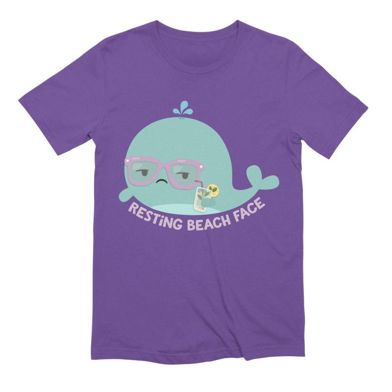 Resting Beach Face Men's T-Shirt by FunUsual Suspects T-shirt Shop