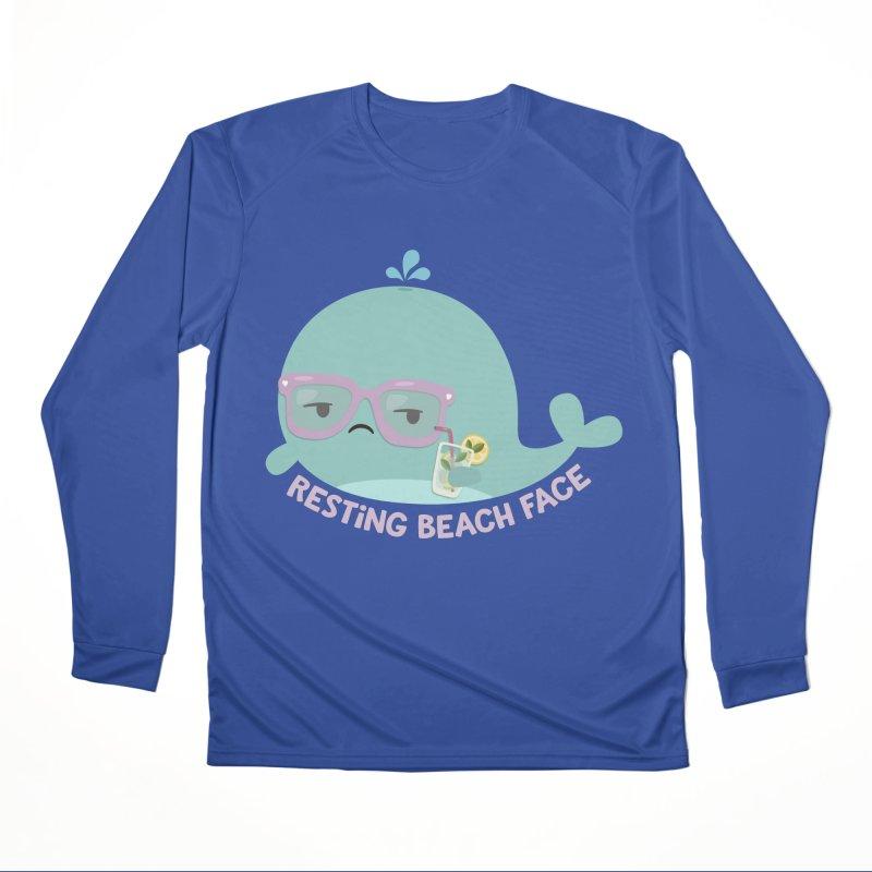Resting Beach Face Women's Performance Unisex Longsleeve T-Shirt by FunUsual Suspects T-shirt Shop