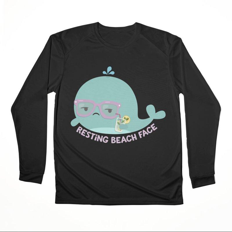 Resting Beach Face Men's Performance Longsleeve T-Shirt by FunUsual Suspects T-shirt Shop
