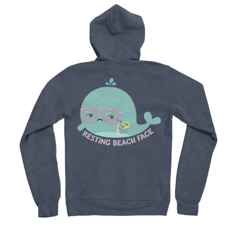 Resting Beach Face Men's Sponge Fleece Zip-Up Hoody by FunUsual Suspects T-shirt Shop