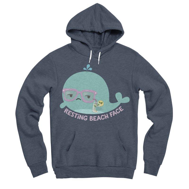 Resting Beach Face Women's Sponge Fleece Pullover Hoody by FunUsual Suspects T-shirt Shop