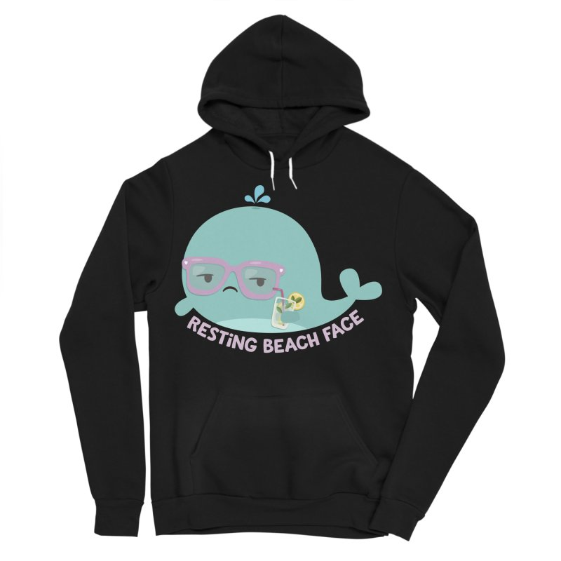 Resting Beach Face Men's Sponge Fleece Pullover Hoody by FunUsual Suspects T-shirt Shop