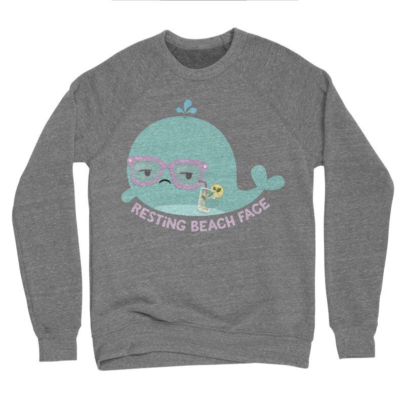 Resting Beach Face Women's Sponge Fleece Sweatshirt by FunUsual Suspects T-shirt Shop