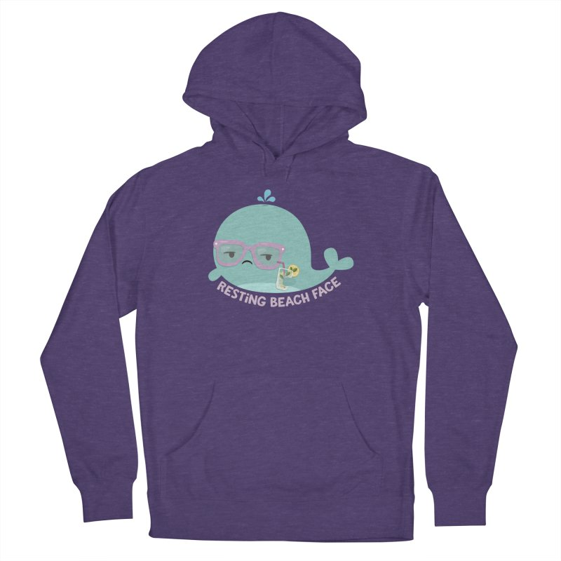 Resting Beach Face Men's Pullover Hoody by FunUsual Suspects T-shirt Shop