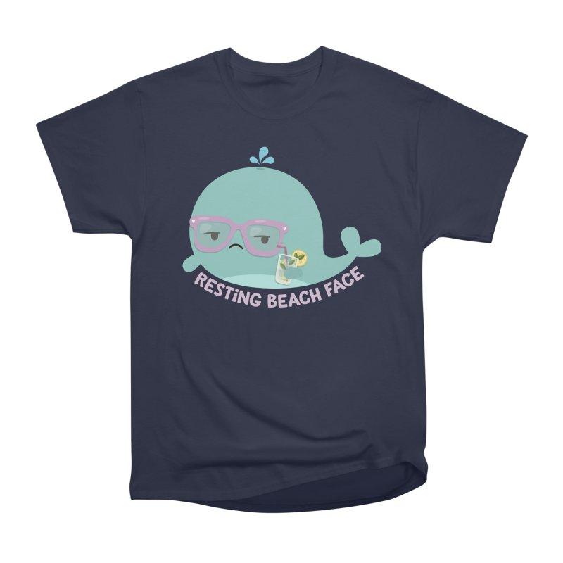 Resting Beach Face Men's Heavyweight T-Shirt by FunUsual Suspects T-shirt Shop