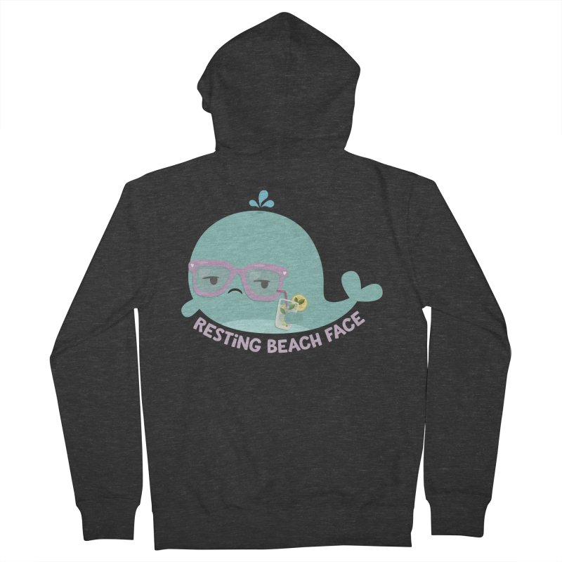 Resting Beach Face Women's Zip-Up Hoody by FunUsual Suspects T-shirt Shop