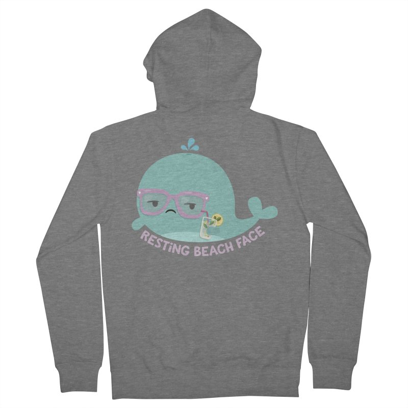 Resting Beach Face Men's French Terry Zip-Up Hoody by FunUsual Suspects T-shirt Shop