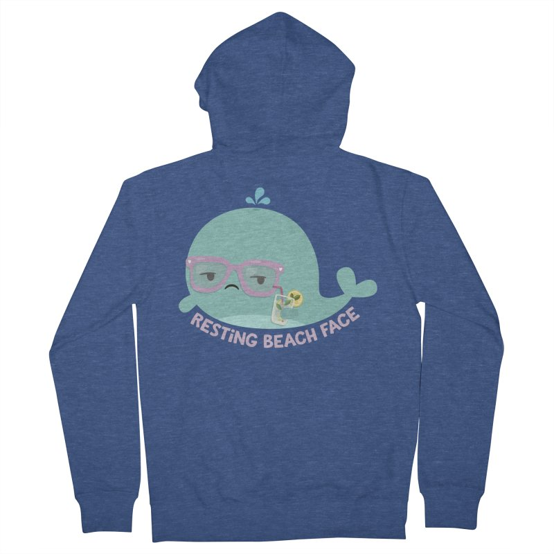 Resting Beach Face Men's Zip-Up Hoody by FunUsual Suspects T-shirt Shop