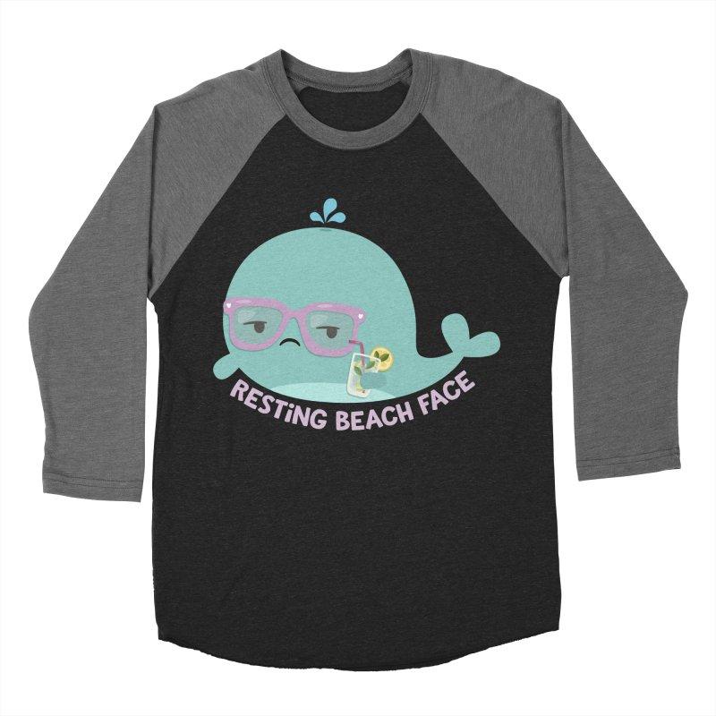 Resting Beach Face Women's Baseball Triblend Longsleeve T-Shirt by FunUsual Suspects T-shirt Shop
