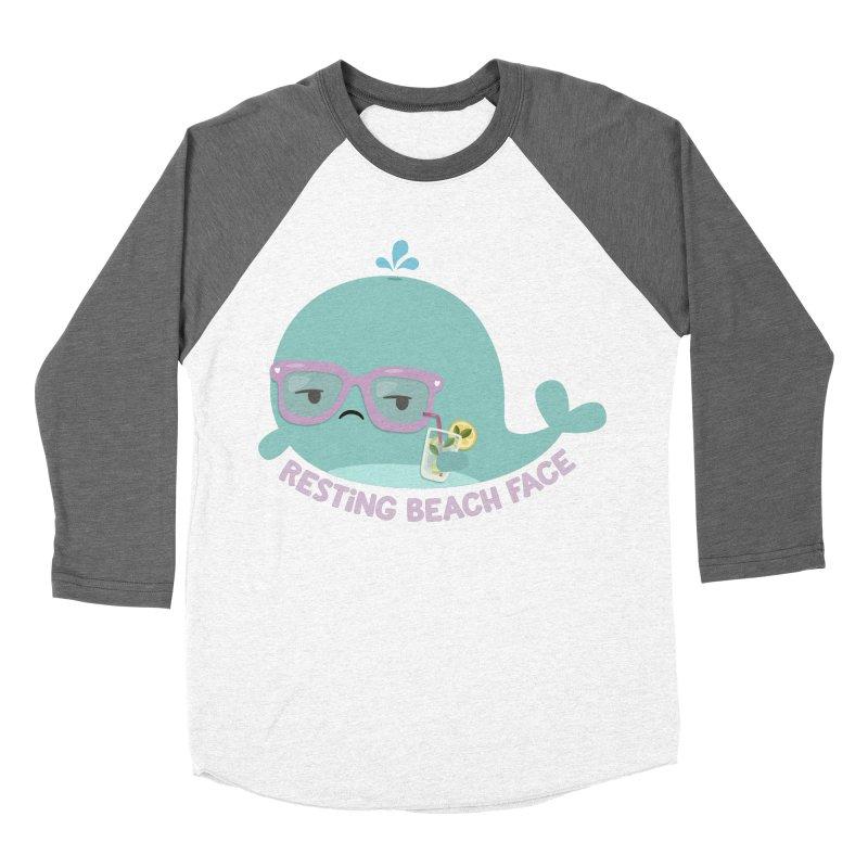 Resting Beach Face Men's Baseball Triblend Longsleeve T-Shirt by FunUsual Suspects T-shirt Shop