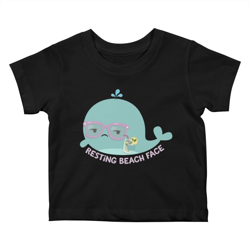 Resting Beach Face Kids Baby T-Shirt by FunUsual Suspects T-shirt Shop