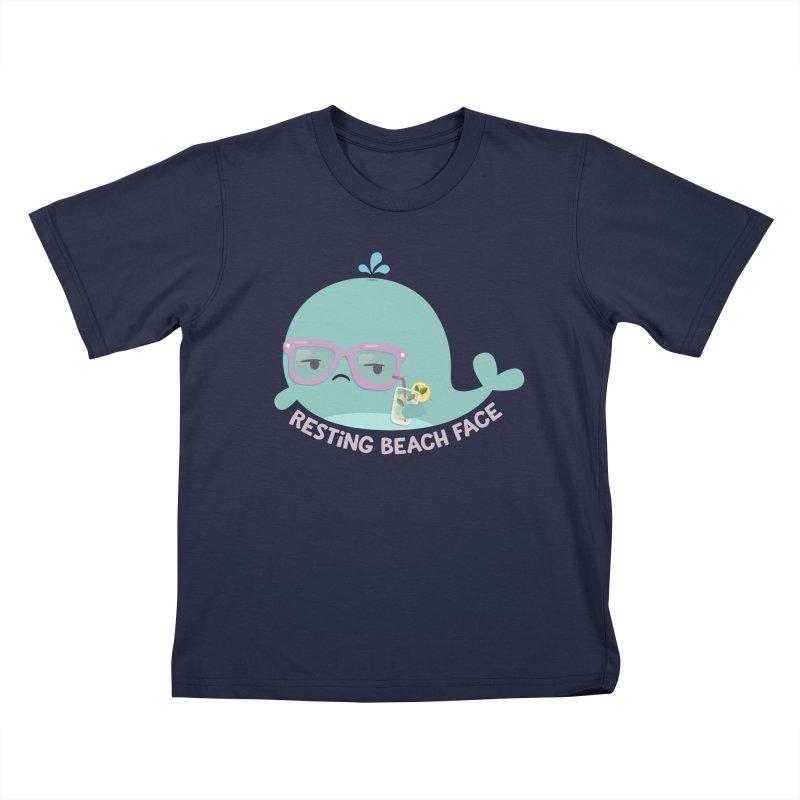 Resting Beach Face Kids T-Shirt by FunUsual Suspects T-shirt Shop