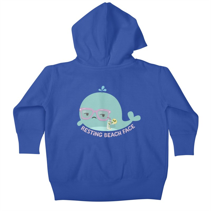 Resting Beach Face Kids Baby Zip-Up Hoody by FunUsual Suspects T-shirt Shop