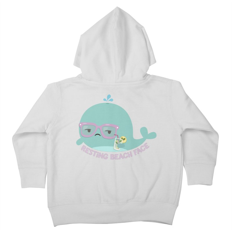 Resting Beach Face Kids Toddler Zip-Up Hoody by FunUsual Suspects T-shirt Shop