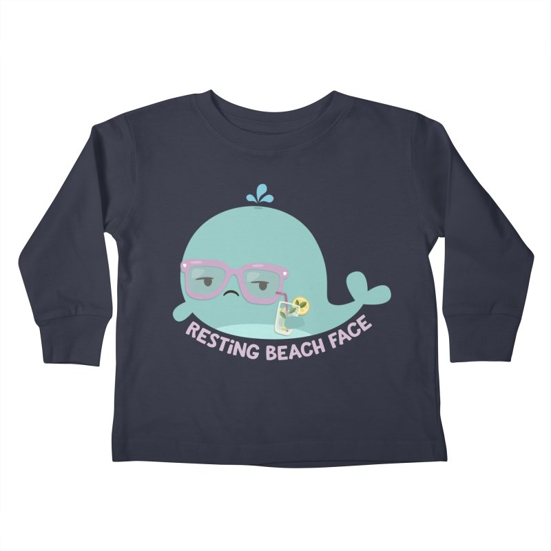 Resting Beach Face Kids Toddler Longsleeve T-Shirt by FunUsual Suspects T-shirt Shop