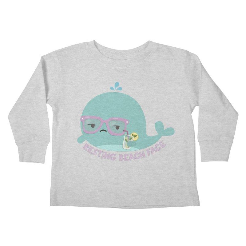 Resting Beach Face Kids Toddler Longsleeve T-Shirt by FunUsual Suspects T-shirt Shop
