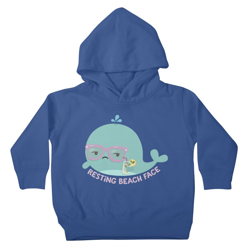 Resting Beach Face Kids Toddler Pullover Hoody by FunUsual Suspects T-shirt Shop
