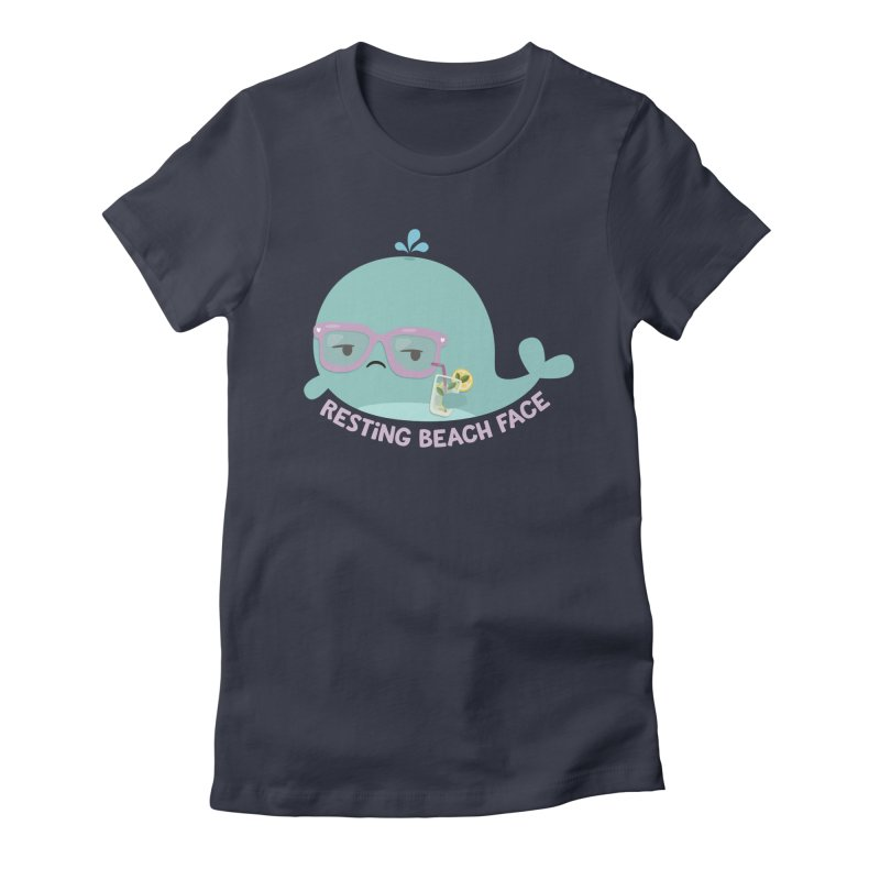 Resting Beach Face Women's T-Shirt by FunUsual Suspects T-shirt Shop