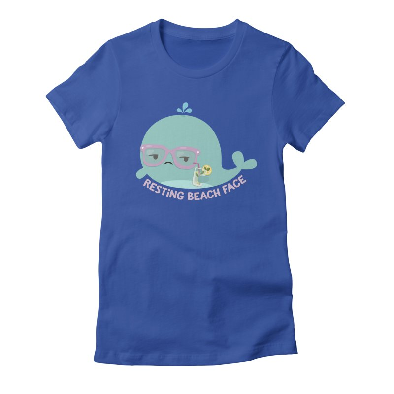 Resting Beach Face Women's Fitted T-Shirt by FunUsual Suspects T-shirt Shop