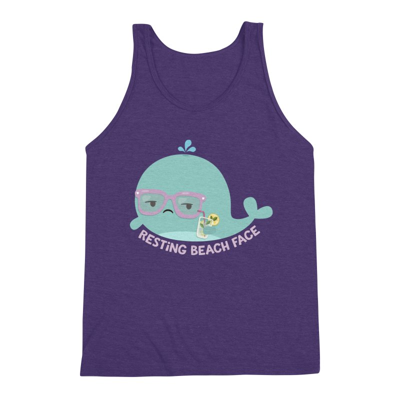 Resting Beach Face Men's Triblend Tank by FunUsual Suspects T-shirt Shop
