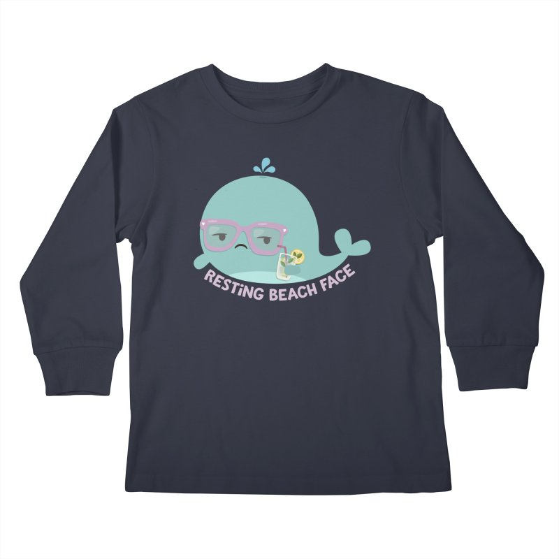 Resting Beach Face Kids Longsleeve T-Shirt by FunUsual Suspects T-shirt Shop
