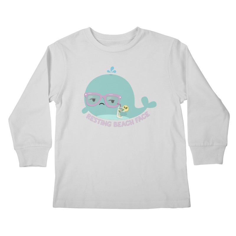 Resting Beach Face Kids Longsleeve T-Shirt by FunUsual Suspects T-shirt Shop