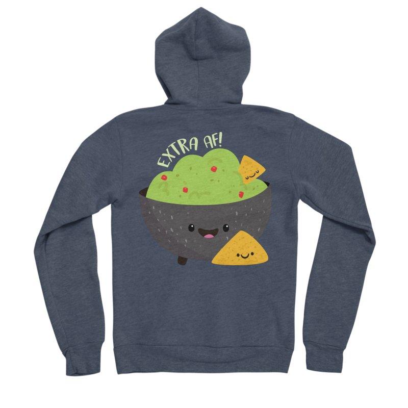 Extra AF Women's Sponge Fleece Zip-Up Hoody by FunUsual Suspects T-shirt Shop