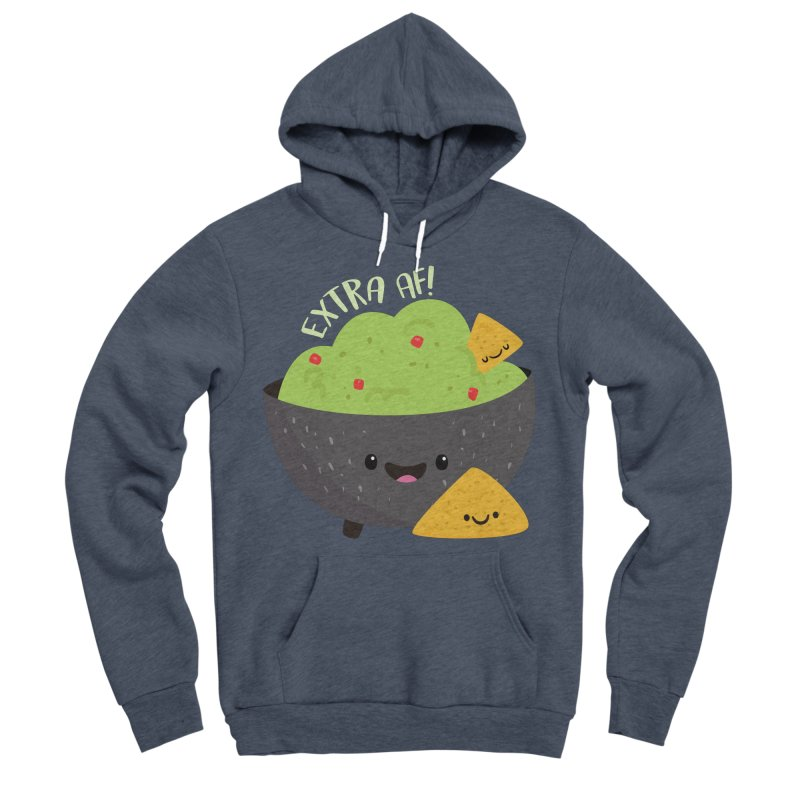 Extra AF Women's Sponge Fleece Pullover Hoody by FunUsual Suspects T-shirt Shop