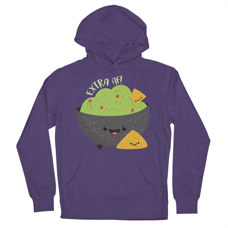 Extra AF Women's French Terry Pullover Hoody by FunUsual Suspects T-shirt Shop