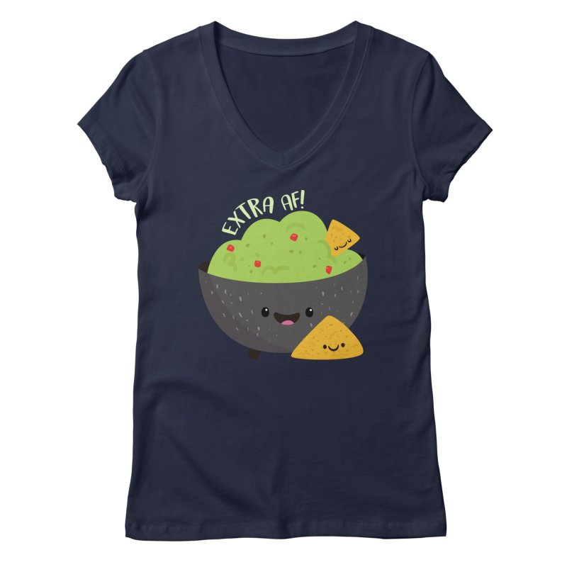 Extra AF Women's V-Neck by FunUsual Suspects T-shirt Shop