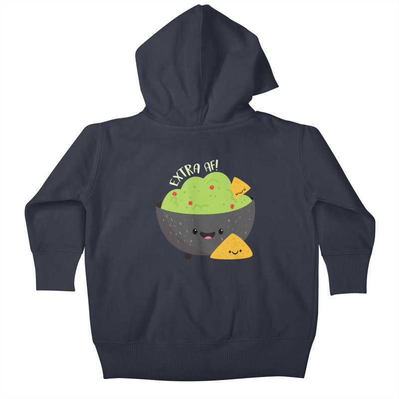 Extra AF Kids Baby Zip-Up Hoody by FunUsual Suspects T-shirt Shop