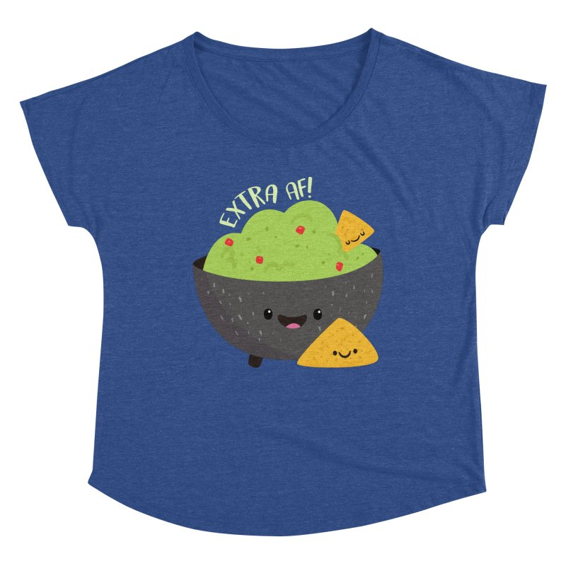 Extra AF Women's Scoop Neck by FunUsual Suspects T-shirt Shop
