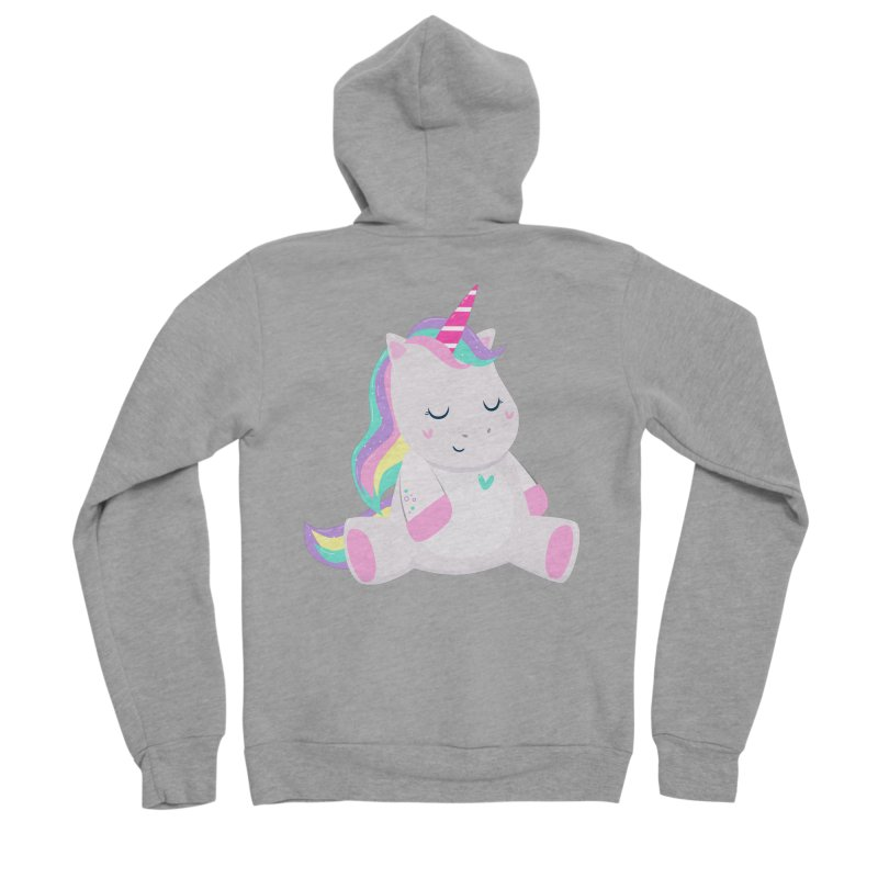 Magically Mellow Women's Sponge Fleece Zip-Up Hoody by FunUsual Suspects T-shirt Shop