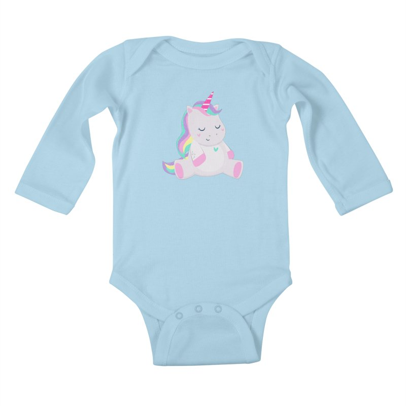 Magically Mellow Kids Baby Longsleeve Bodysuit by FunUsual Suspects T-shirt Shop