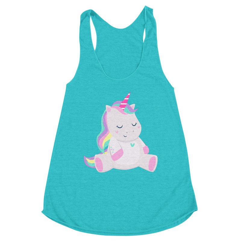 Magically Mellow Women's Racerback Triblend Tank by FunUsual Suspects T-shirt Shop