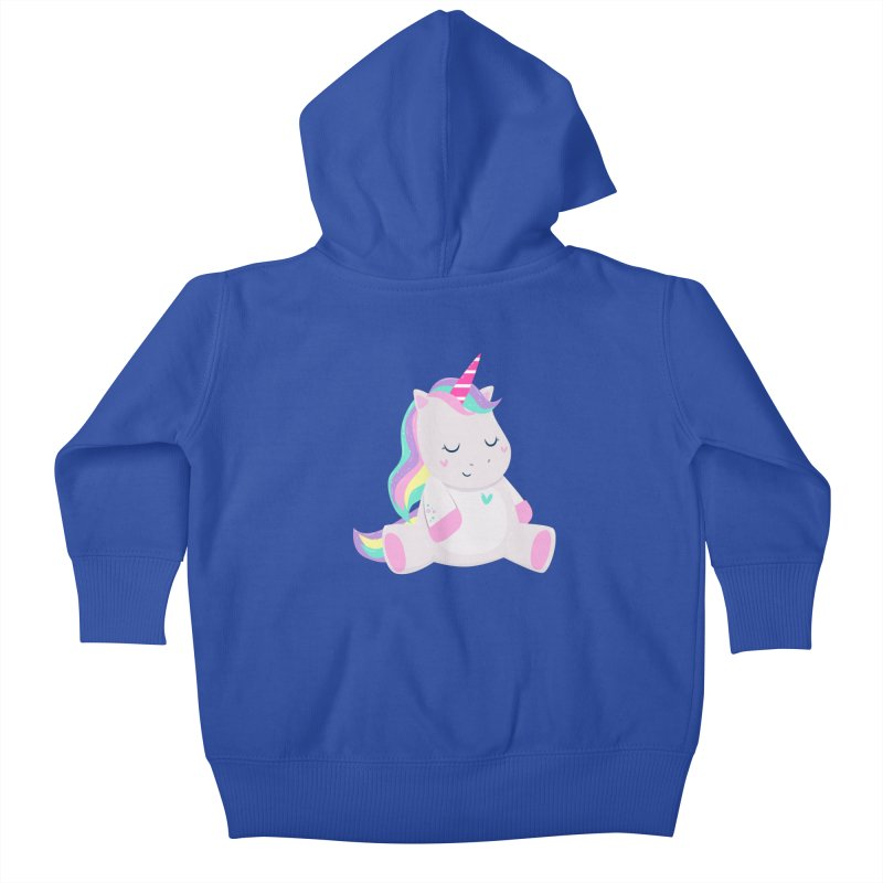 Magically Mellow Kids Baby Zip-Up Hoody by FunUsual Suspects T-shirt Shop