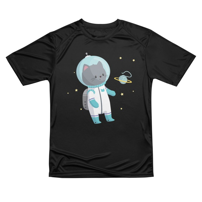 Space Cat Men's T-Shirt by FunUsual Suspects T-shirt Shop