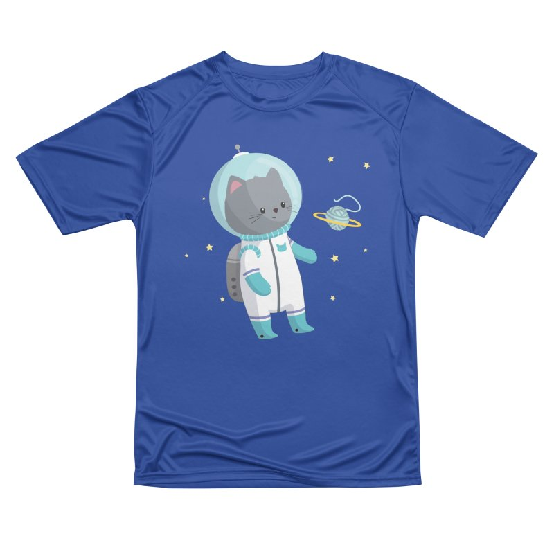 Space Cat Women's Performance Unisex T-Shirt by FunUsual Suspects T-shirt Shop