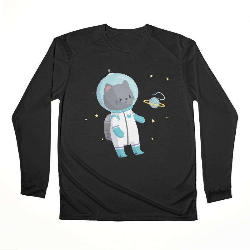 Space Cat Men's Longsleeve T-Shirt by FunUsual Suspects T-shirt Shop