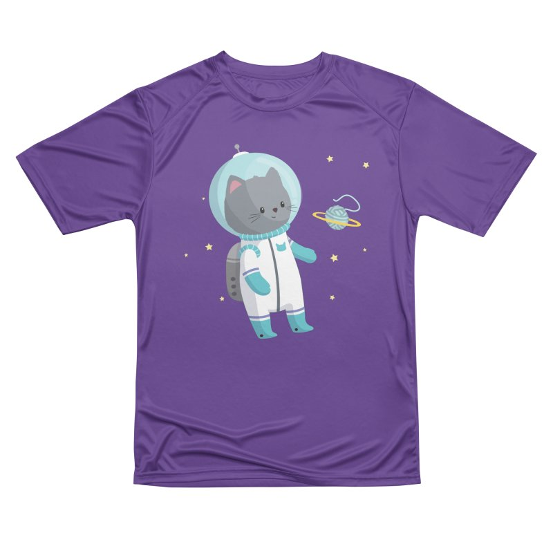 Space Cat Men's Performance T-Shirt by FunUsual Suspects T-shirt Shop