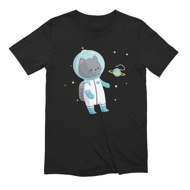 Space Cat Men's Extra Soft T-Shirt by FunUsual Suspects T-shirt Shop