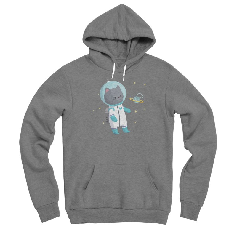 Space Cat Women's Pullover Hoody by FunUsual Suspects T-shirt Shop