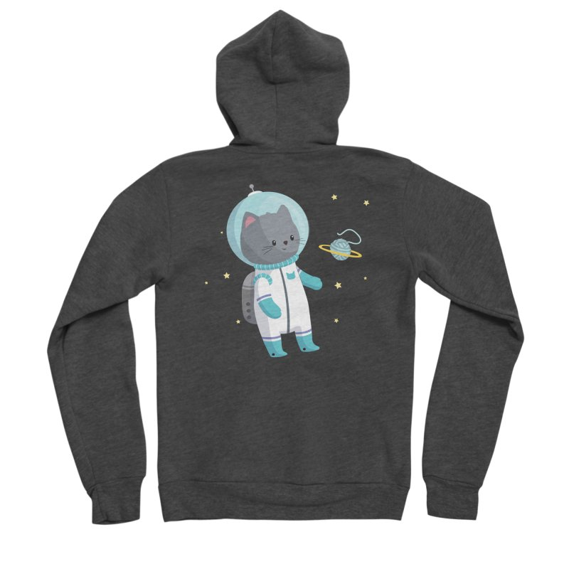 Space Cat Men's Zip-Up Hoody by FunUsual Suspects T-shirt Shop