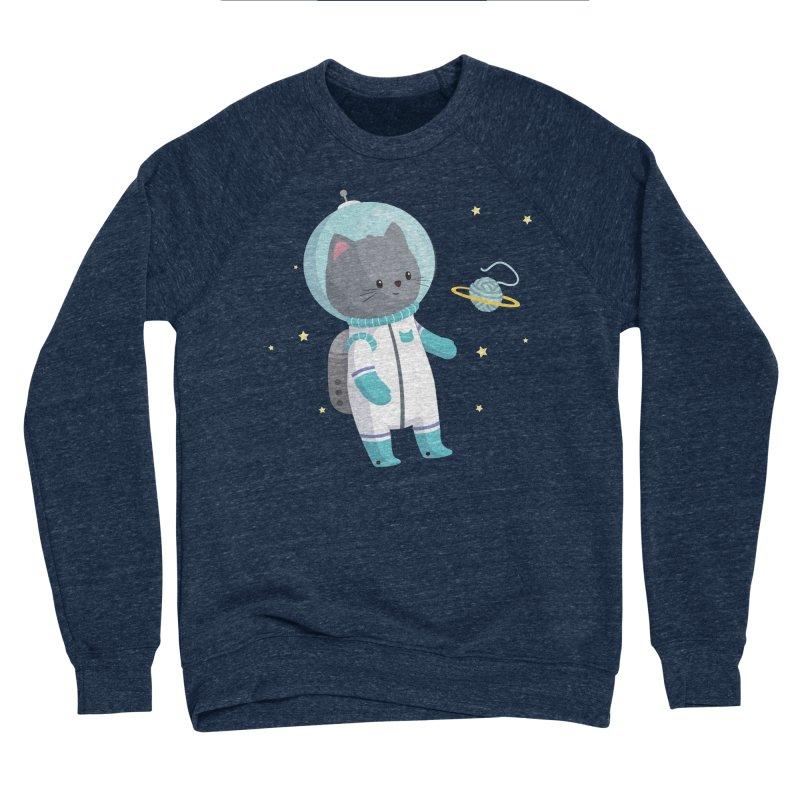 Space Cat Women's Sponge Fleece Sweatshirt by FunUsual Suspects T-shirt Shop